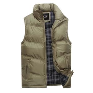 Raffreddare Vest Uomini addensare Gilet Plus Size Jacket Mens maniche Vest Winter Fashion Casual cappotti Maschio Cotton-Padded degli uomini 3XL