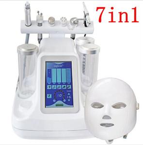 جديد 7in1 المياه جلدي الجلد الأكسجين معدات العلاج الوجه المنتجعات المائية هيدرو جلدي صالون الوجه العميق نظيفة آلة المياه قشر