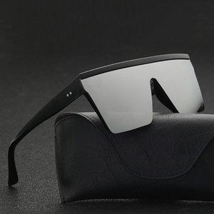 Gafas de sol de moda para hombres de gran tamaño de conducción Cool negro de una pieza de gafas de sol de diseño Gafas masculinas cuadradas
