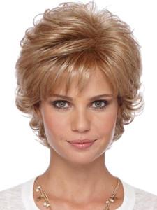Женские синтетические волосы парик вьющиеся шик все Матч мода парик аксессуар мода микро рулон короткие волосы высокое качество химического волокна