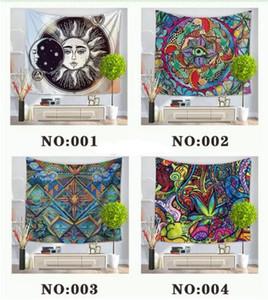 7 Styles Coloré Tapisserie Tenture Tenture Bohémienne Porte Rideau 130x150cm Serviette De Plage Pique-Nique Couverture