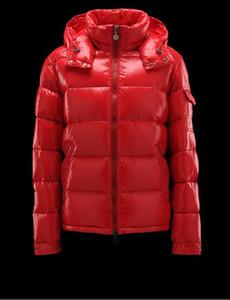 패션 브랜드 겨울 남성 야외 마야 빛나는 매트 다운 재킷은 캐주얼 후드 다운 코트 겉옷 남자의 따뜻한 재킷 파카 S-3XL 망