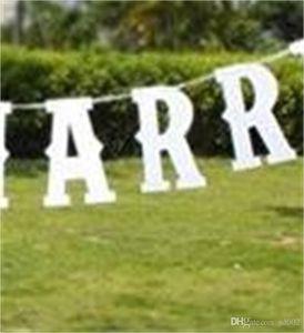 Just Married Banner Lettre Drapeaux Pratique Tag Birthday Party Supplies Streamer Événement De Mariage Décoration Facile Carry 6 5my cc