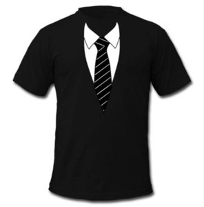 Wholesale-Newest Fashion Mens Womens Summer Style Tuxedo Funny 3D Print Casual T-Shirt DXR0082