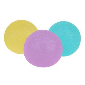 3шт / много Портативный стресс мяч Finger ручка Усиление терапии Упражнение Сожмите яйца Stress Balls пригодности оборудования рукоятками