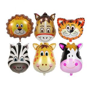 Mini cabeza animal Foil globos inflable globo de aire feliz fiesta de cumpleaños decoraciones niños fiesta de bienvenida al bebé suministros GA549