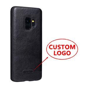 Caja suave de lujo al por mayor del teléfono del cuero de TPU de la caja del teléfono del logotipo de la impresión para Samsung note8 S8 S8 más