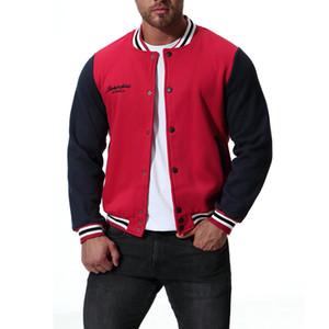 Polaire College Baseball Hommes Vestes Classic Red Jacket Varsity Hommes Femmes Hommes Automne Bomber Mode Homme 2XL Veste J181040