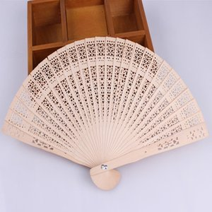 New Chinese Aromatic Wood Pocket Pieghevole tenuto in mano Fans Elegent Home Decor Party Favors Trasporto veloce