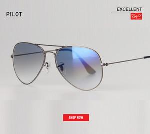 Mükemmel kalite siyah lens Güneş Erkekler uv400 Marka Tasarımcısı güneş gözlükleri Moda havacılık Sürüş Güneş Camı degrade lens gafas