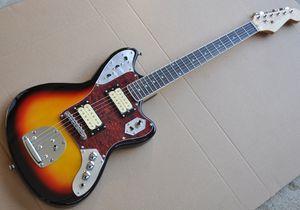 Atacado Personalizado Tobacco Sunburst Guitarra Elétrica com braço de Jacaranda, Tortue Rouge Shell pickguard, HH Micros