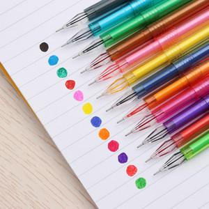 12 Adet Şeker Renk Elmas Jel Kalem Yaratıcı Hediye Okul Renkli Kalemler Kırtasiye Ofis Malzemeleri