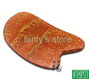 Инструмент массажа иглоукалывания оптом и в розницу традиционный / доска Guasha / естественное 5A красное желтое Bian-stone