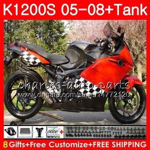 Éclairage de carrosserie rouge Pour BMW K1200 S K 1200 S 05 10 K1200S 05 06 07 08 09 10 103HM.5 K-1200S K 1200S 2005 2006 2007 2008 2009 2010 Kit de carénage