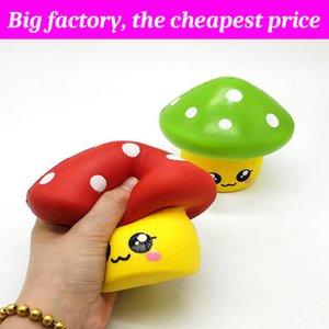Champignon squishy 12 cm * 11 cm énorme en hausse lente Soft Squeeze mignon téléphone portable Strap cadeau Stress enfants jouets Decompression Toy