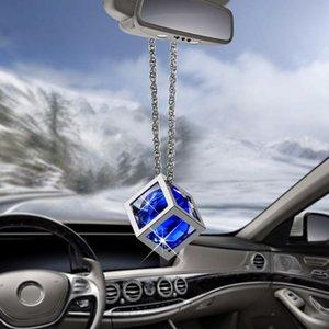 Автомобиль Подвеска куб Алмазные украшения подвески украшения зеркало заднего вида платяной триммера Автомобили Интерьер мотаться Декор Подарки