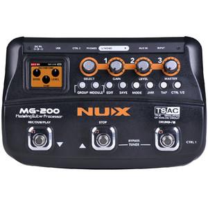 NUX MG-200 гитарный процессор Multi гитара педаль эффектов 55 эффектов 70 секунд записи гитара петлитель драм-машина бесплатная доставка