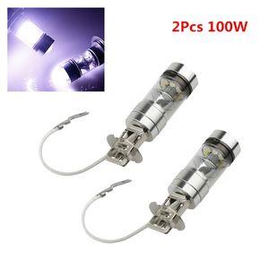 Na Venda! 2 Pcs H3 100 W CREE Brilhante LED Branco Névoa DRL Cabeça Car Light Lamp CLT_06R