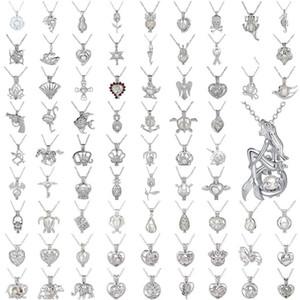 Perle Cage Halskette Liebe, wünschen echte Perle mit weißen Oyster Perlen Art und Weise höhlt Locket Claviclekette Diffusor Halskette