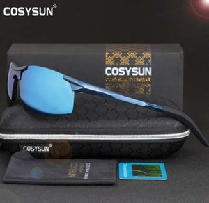 COSYSUN Männer Polarisierte Sonnenbrille Aluminiumlegierung Sonnenbrille Mann Spiegel Objektiv Polarzing Driving Herren Sonnenbrille 6 Farbe