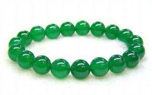 8mm Emerald Pearl elastisches Armband für grüne malayische Jade