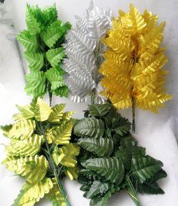 """40pcs artificiale foglia di seta pianta 40 cm / 15.75 """"Simulazione persiana erba felci verde erba 7 foglie verde / verde chiaro / argento / oro"""
