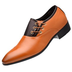 Mens Dress inserto in mesh a punta tonda Uniform Dress Shoes Side Lace-up in pelle PU Formale Oxford Business Shoes