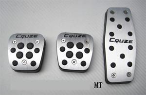 pedais do carro Auto acessórios de alumínio para Chevrolet Cruze Accelerator pedal de freio Pedal Footrest Pedal