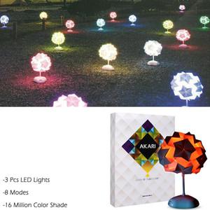 Nueva luz de la noche creativa DIY IQ lámpara colorida Origami lámpara Puzzle Bar decoración regalo para niños escritorio cabecera de la luz de la novedad Q0891