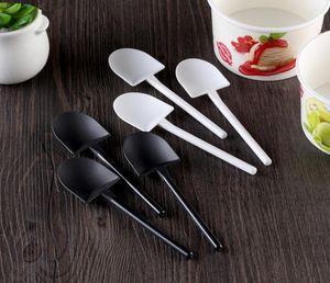 Envío gratis desechable en maceta puro negro blanco helado cucharada pala pequeño en maceta maceta cuchara SN310