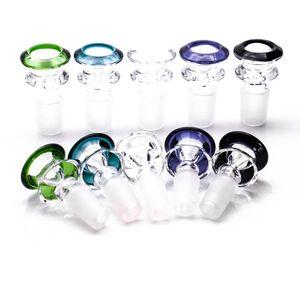 Cuenco de cristal especialmente diseñado hermosa trompeta en forma de 14 mm 19 mm cuencos para tubos de agua de vidrio de alta calidad accesorios para fumar