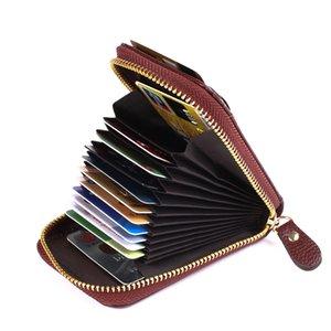New PU Leather Unisex 6 Color Card Package Design di alta qualità delle donne Casual Casual Women Pad ID carta di credito titolare del pacchetto della carta