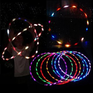 90cm LED Glow Hula Hoop Performance Hoop Sports Toys Loose Weight Toy Kids Child