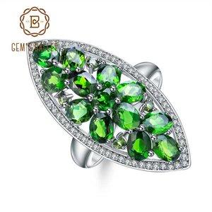 GEM'S BALLET 5.0 Ct Ct натуральный хром диопсид коктейль кольцо стерлингового серебра 925 драгоценных камней кольца ювелирные изделия для женщин