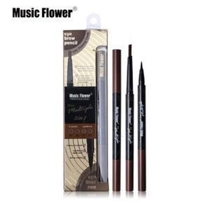 Music Flower double-head automatic make-up without smudge eyeliner + eyebrow pencil waterproof