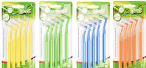 Dropshipping Filamentos Macios Dente De Limpeza Interdental Escova Escovas De Dentes Vermelhos 0.7mm ~ 1.5mm escovado níquel pia do banheiro