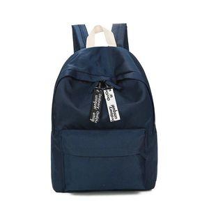 Annmouler muy buen gusto del estilo de las mujeres mochila mochilas impermeables lindo Mochila Mochila Color Negro Sólido bolso de escuela de la alta calidad de las muchachas