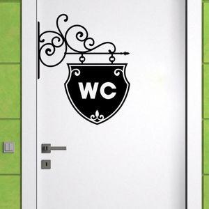 Art WC Toilet Sticker 가정 장식 전사 술 이동할 수있는 집 장식 벽 스티커 A2187