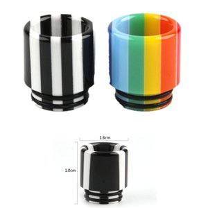 8 Style Rainbow Mushrooms Stripe Resina epossidica SS 810 510 Discussione Vape Drip Tip Wide Bore Bocchino per TFV8 Big Baby TFV12 Prince