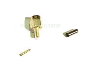 50pcs RF Coax SMA Male for 50-1.5 RG316 Cable Connector Plug