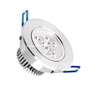 CREE LED Downlights 3W Dimmable LED Empotrable Lámpara de techo AC85-265V Blanco / Cálido LED abajo Lámpara de aluminio Aluminio