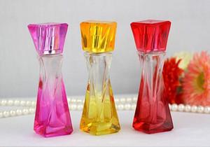 100pcs nuevos frascos de perfume de cristal del atomizador del perfume 20ML cosméticos Botellas del aerosol vacíos coloridos Parfum botellas de embalaje en la acción ahora!