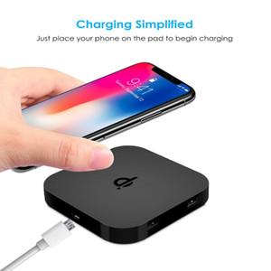 QI certificado carregador sem fio do telefone móvel sem fio cobrando pad com Base de Borracha Anti-Slip para iPhone X carregador de telefone portátil