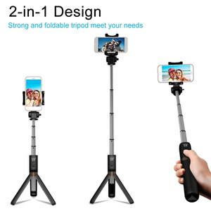 Bluetooth Удлинительная палка Selfie с беспроводным удаленным затвором Monopods Tripod Стенд для iPhone Samsung S10 Huawei Xiaomi Телефон Smartphones