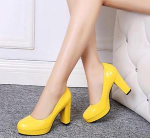 무료 2018 봄과 가을 새로운 스타일의 패션 거친 발 뒤꿈치 높은 굽 여성의 신발을 보내
