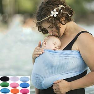 Bebé recién nacido Sling Kids Lactancia Sling antideslizante Anillo doble Parenting Baby Stretchy Wrap Portador infantil 9 colores C4598