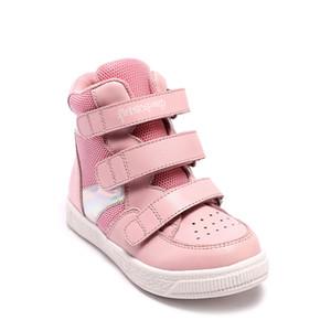 Princepard moda tasarım kızlar ortopedik spor bebek ayakkabı pembe inek hakiki deri rahat ayakkabı koşu ayakkabıları bebek sneaker