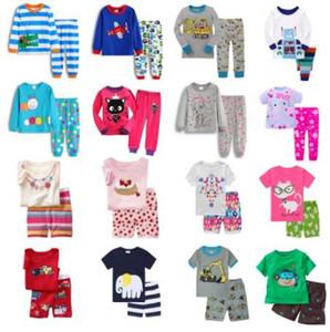 Hooyi мальчиков пижамы костюм девушки пижамы сна костюмы дети футболки брюки дети пижамы 100% хлопок топы брюки главная одежда