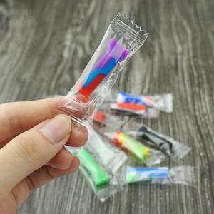 Cheap silicone tubo del tabacco di sigaretta pipistrello Purini Pipa con Clear Glass paglia tubo sigaretta con filtro Tubi filtro di vetro Consigli