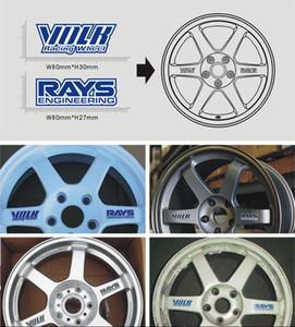 Accesorios de ruedas de motocicleta impermeables y calcomanías para automóviles Volk Rays